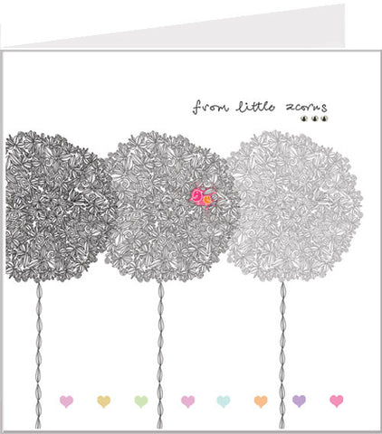 Greetings card, From little acorns