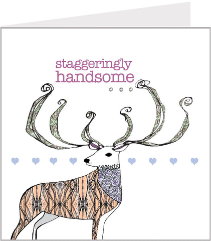 A staggeringly handsome hand made greetings card from Valerie Valerie