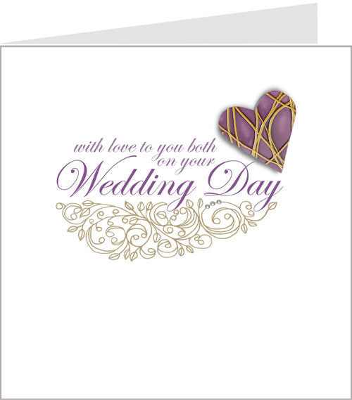 hand made wedding card, hopscptch amore 49-001