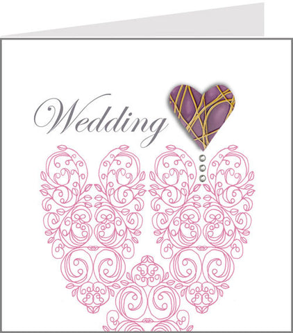 hopscotch amore pink wedding card