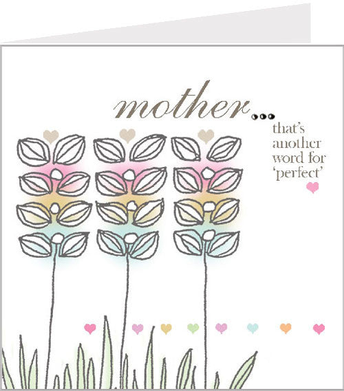 perfect mother greetings card
