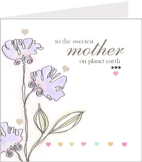 Perfect Mother Card - Sweetest mother on planet earth