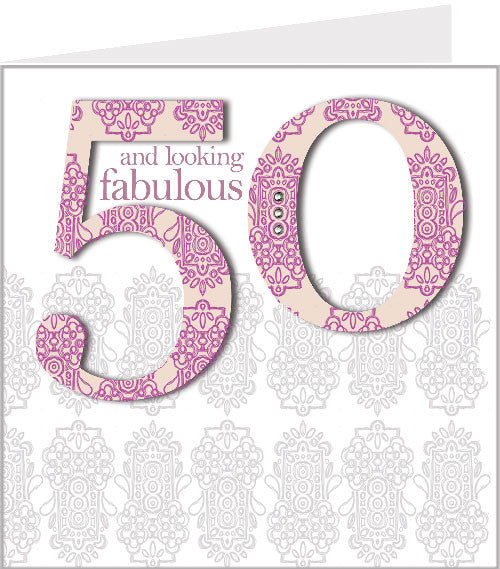 alhambra 50th birthday card 54-003