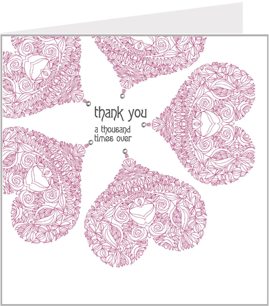 Peony thank you cards 55-001