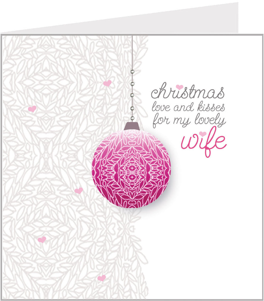 Christmas - Bauble, Wife (pack 6) 58-003