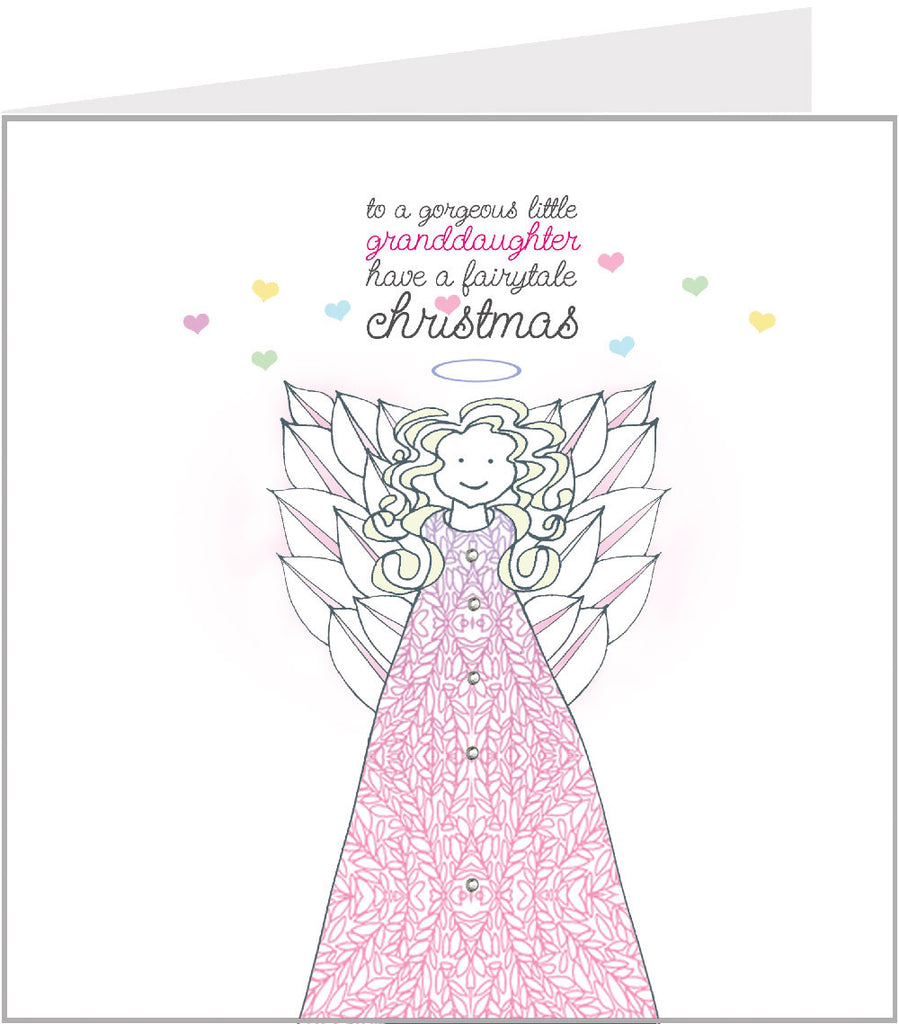 Christmas card with a pretty little angel, by valerie valerie