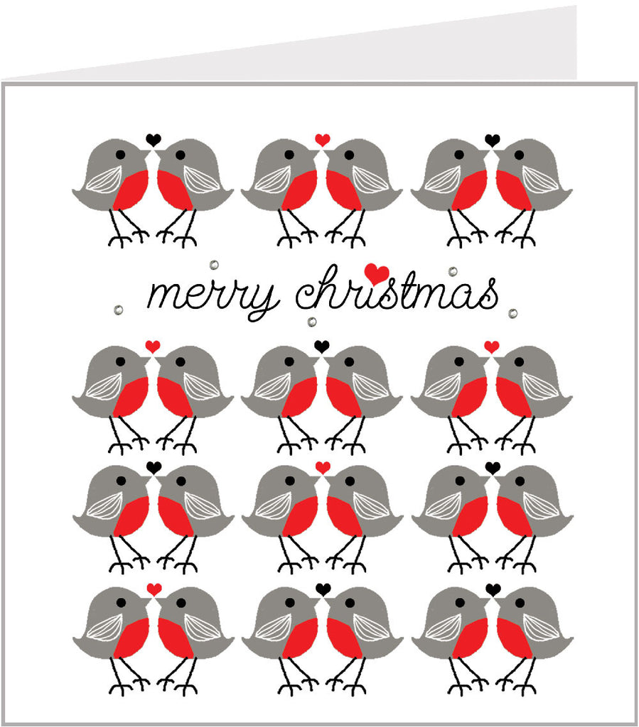 Robins christmas card by valerie valerie