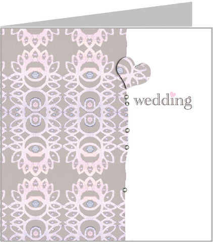 Valerie Valerie wedding card, pink