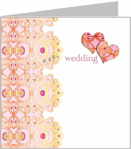Zoe Wedding Card - Wedding, orange