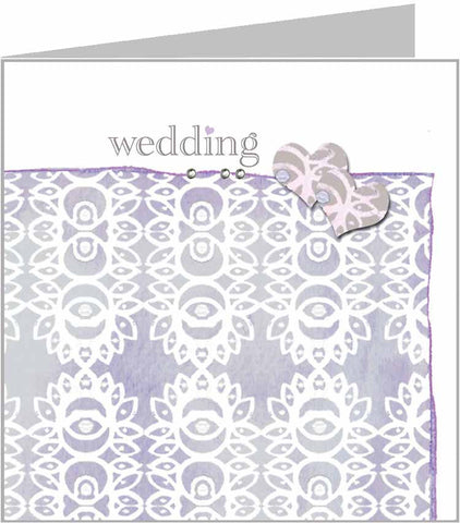 Valerie Valerie wedding card in lilac, zoe range