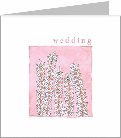 Wallflwoers wedding card by Valerie Valerie