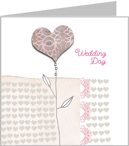 Valerie Valerie wedding card, single bloom design