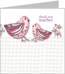 Big Bird, Little Bird, Thank you teacher card by Valerie Valerie