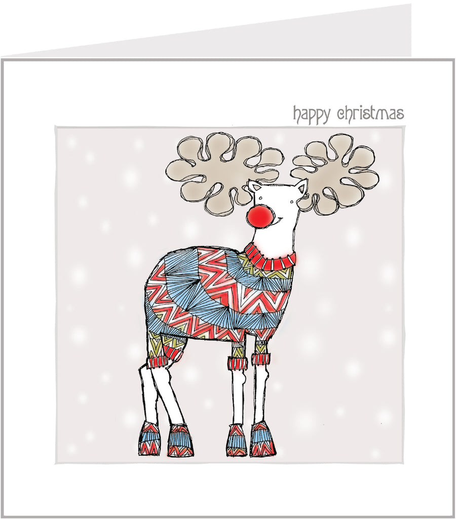 Jazzy Reindeer hand made Christmas card by Valerie Valerie