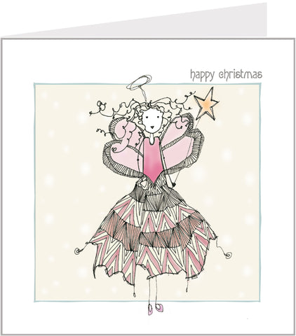 Jazzy Fairy hand made Christmas card by Valerie Valerie