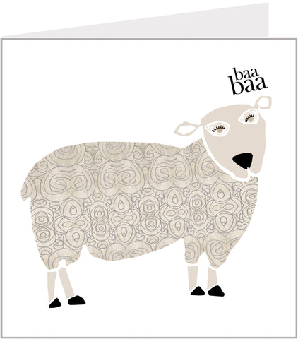 Menagerie Greetings Card - Baa Baa Sheep