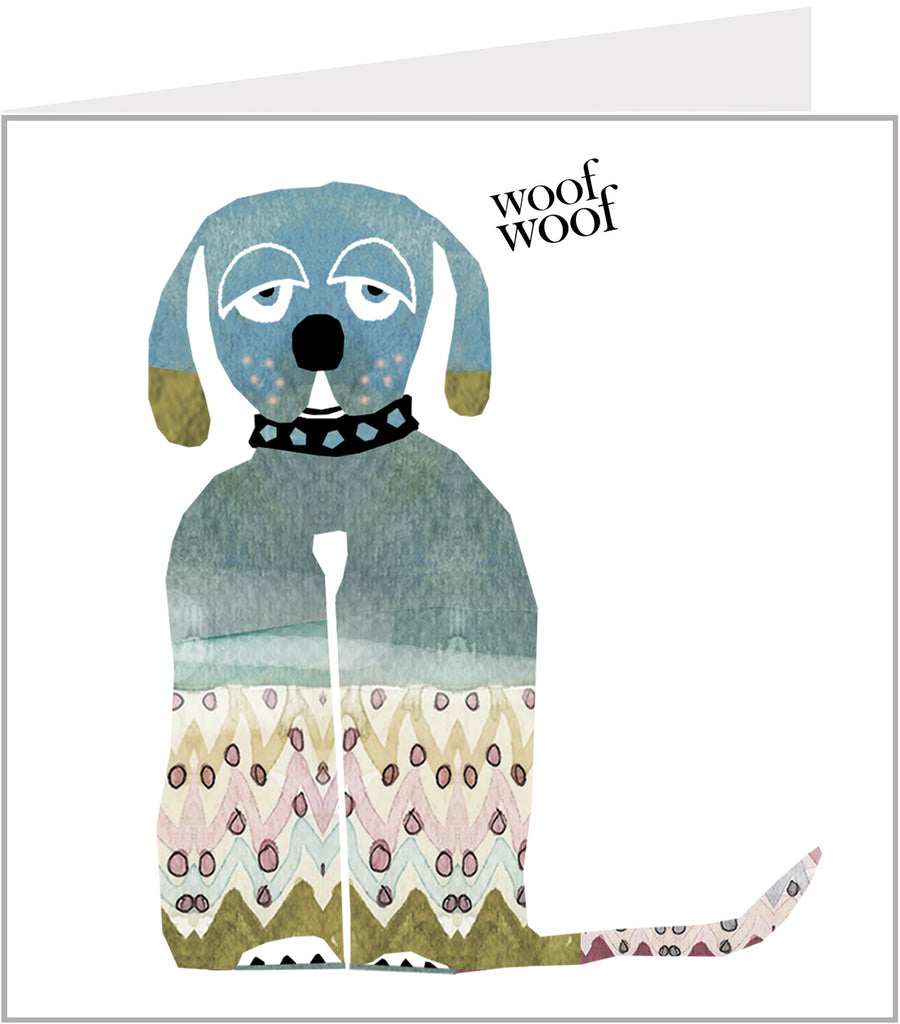 Menagerie Greetings Card - Woof Woof Dog