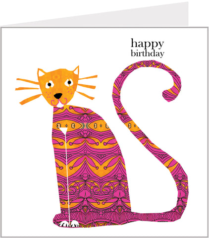 Menagerie Birthday Card  with Cute Cat
