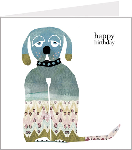 Menagerie Birthday Card - Woof Woof Dog