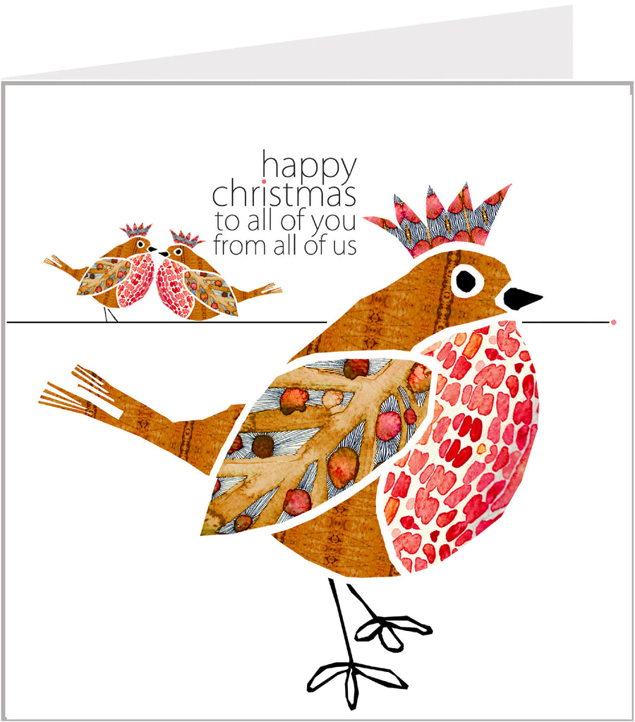Christmas Trimmings, Robins Christmas Card