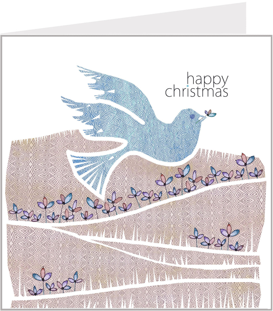 Christmas Trimmings - Dove, Happy Christmas (pack 6) 75-005