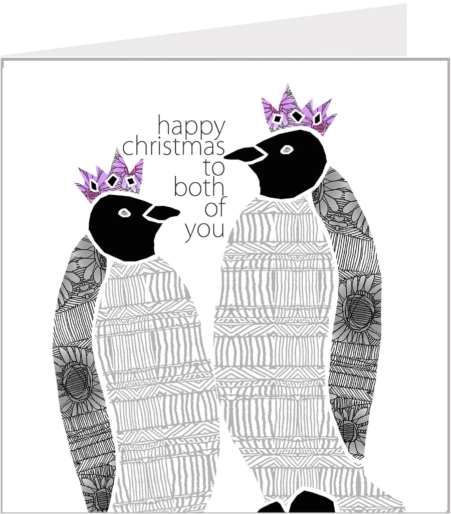 Christmas Trimmings, Penguins to Both of You Christmas Card