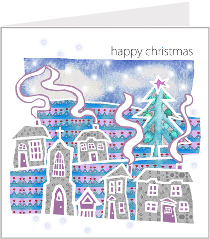 Christmas Trimmings - Snowy Village, Happy Christmas (pack 6) 75-009
