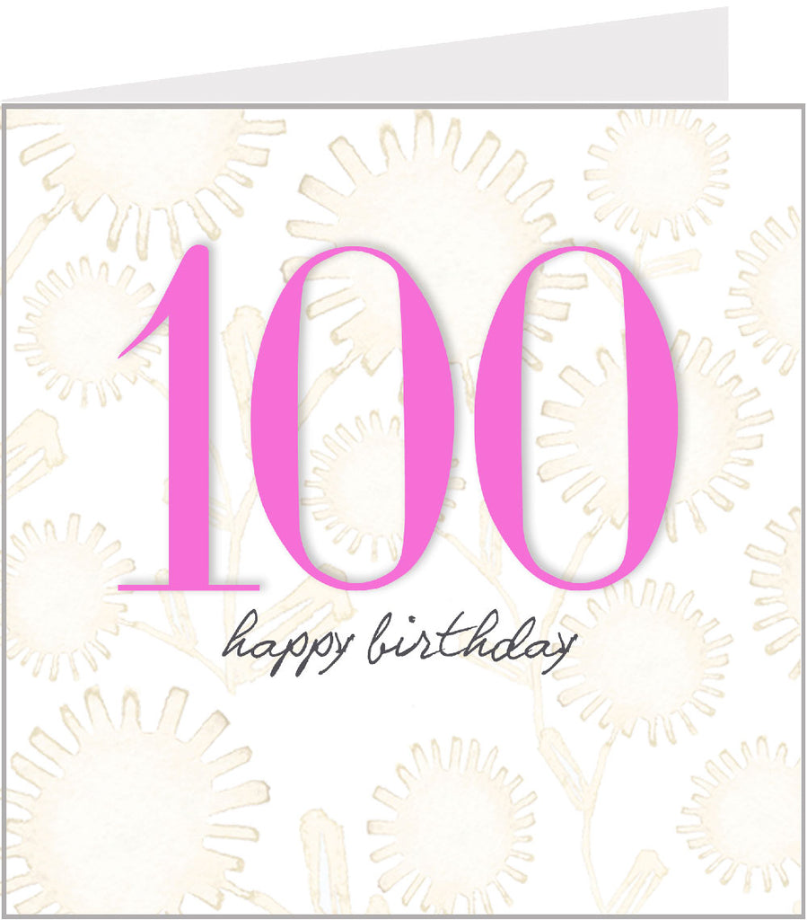 Posy 100th birthday card valerie valerie 100th birthday card bookmarktalkfo Images