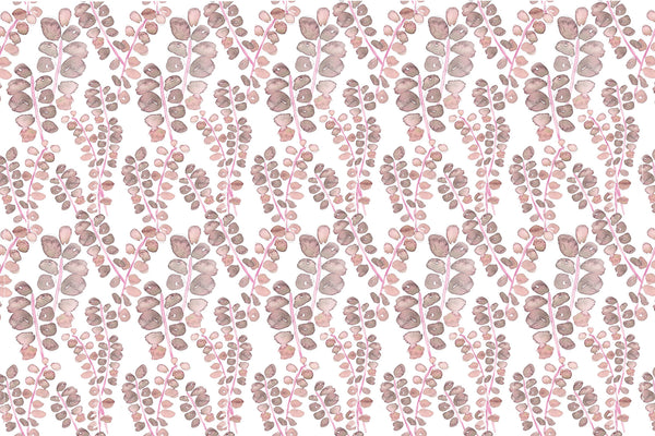 pink leaf fabric by the yard