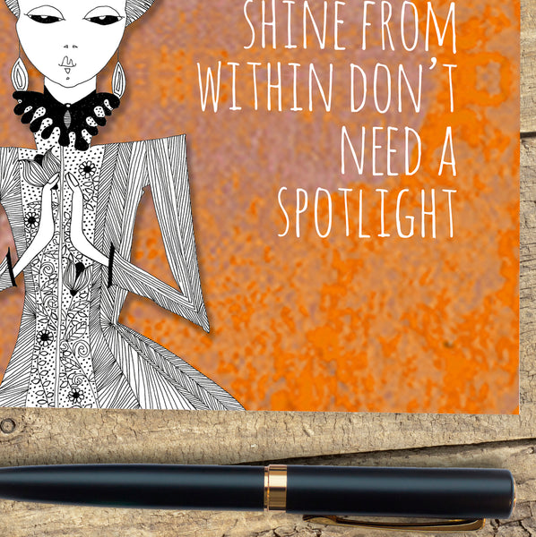 Card - People who shine from within don't need a spotlight card