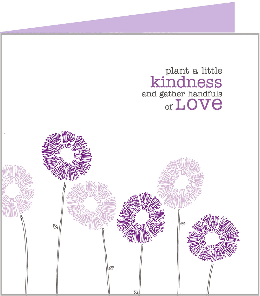 Love Grows Greetings Card - Plant kindness
