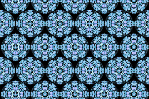 blue fabric design