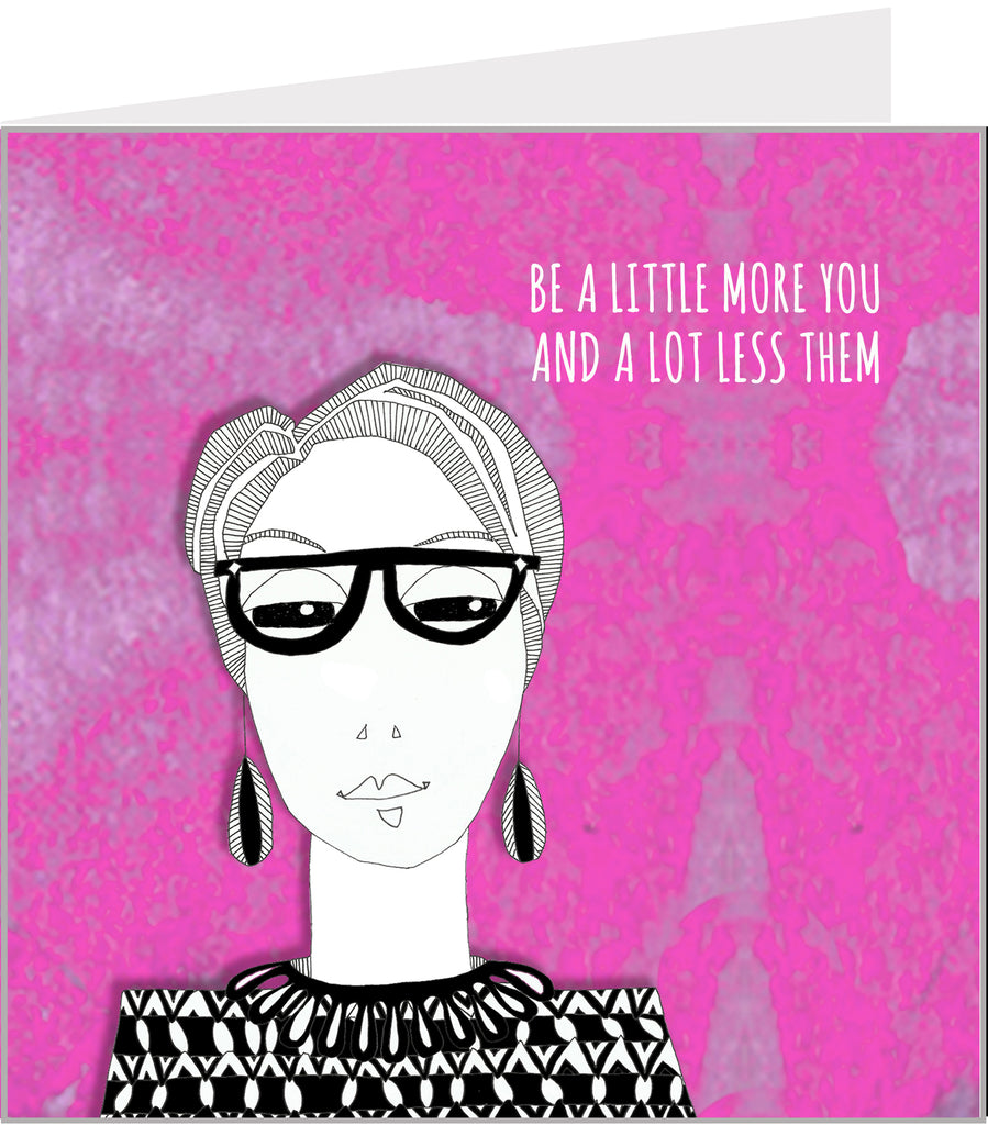 greetings card with inspirational words