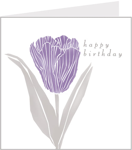 purple tulips birthday card