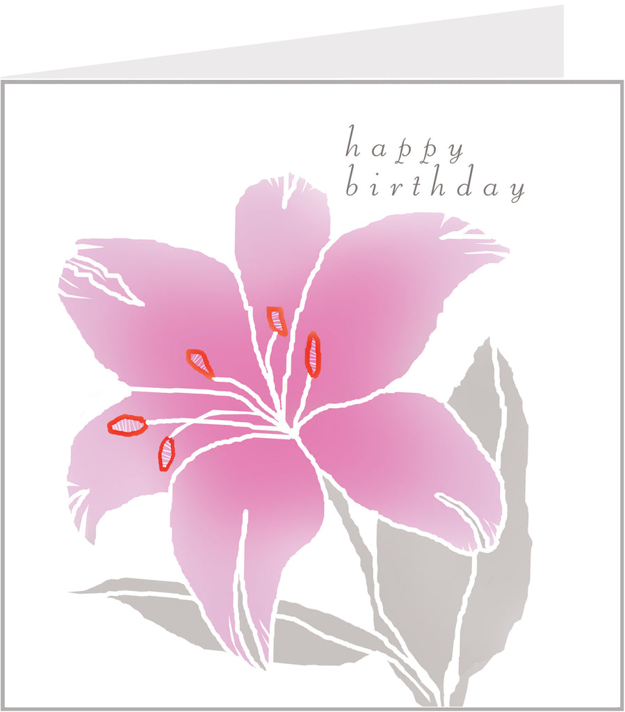 lily birthday card