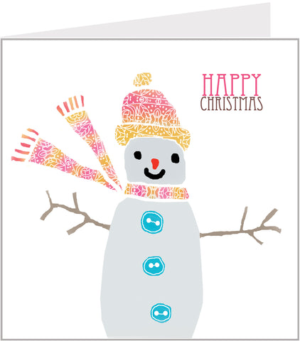 Lacy Snowman christmas card