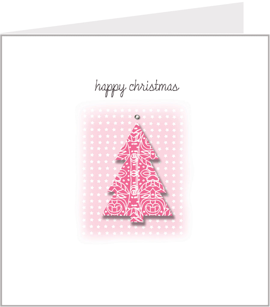 Lacy Cut Out Tree christmas card