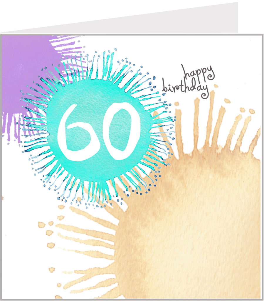 colourful 60th birthday card