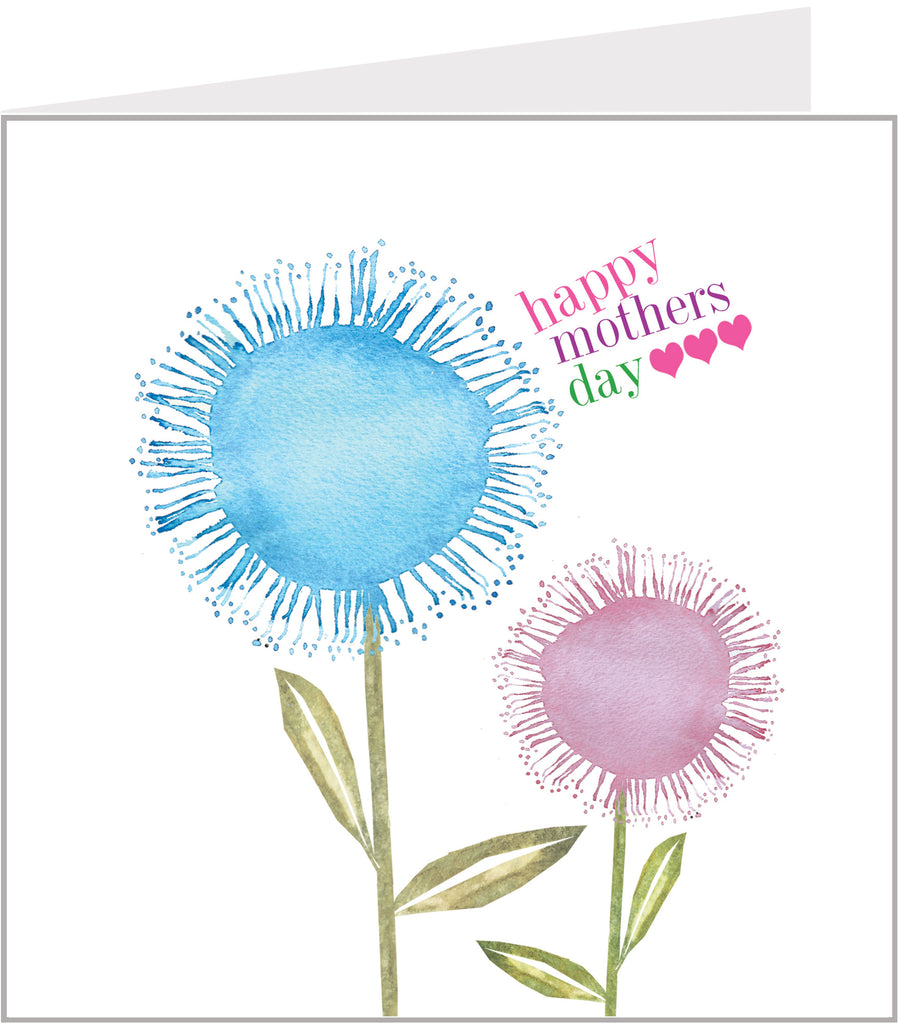 pretty floral mothers day card