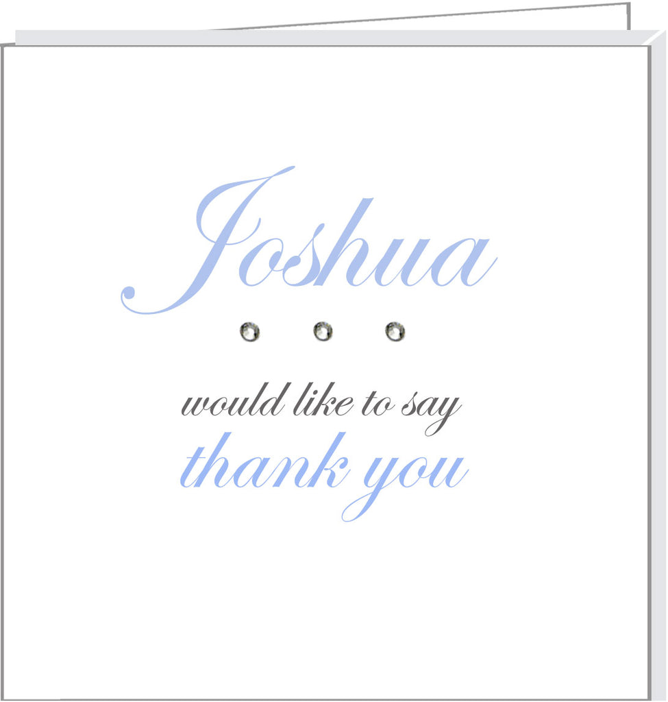 personalised thank you cards with crystals