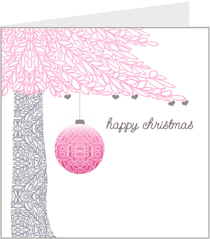 Tree & Bauble christmas card