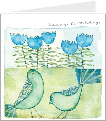 birthday card with birds