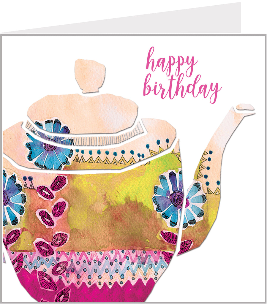teapot birthday card