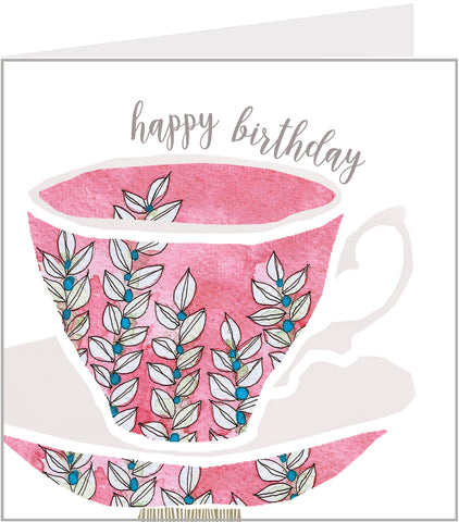 Teacup birthday card
