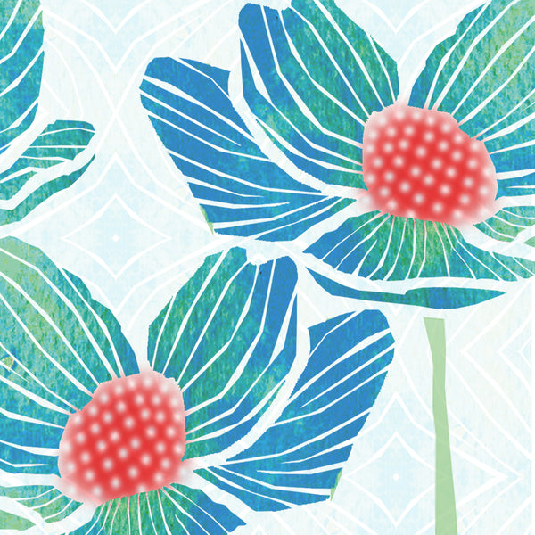 set of 8 beautiful floral notecards