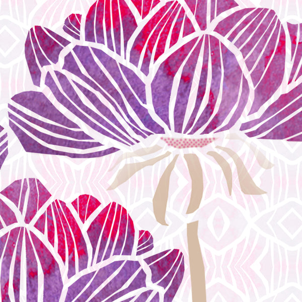 beautiful handmade note cards with peony design