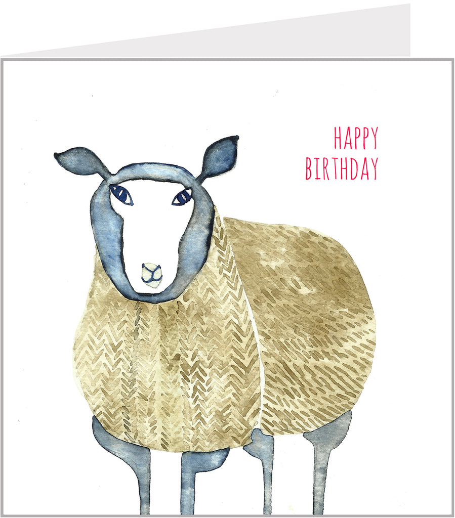 birthday card with a sheep