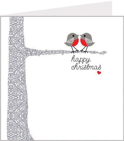 Two Robins christmas card