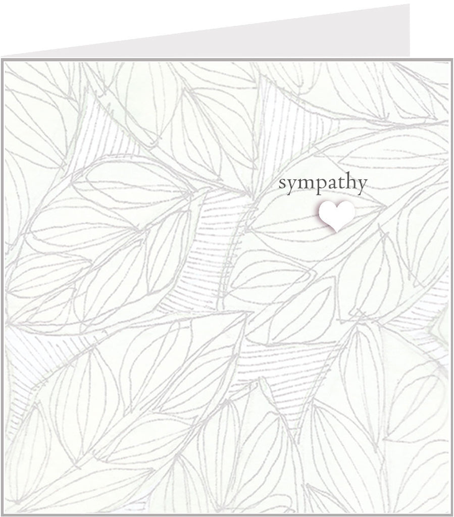 Sympathy card with Leaves  (pack 6) 44-007 Valerie Valerie