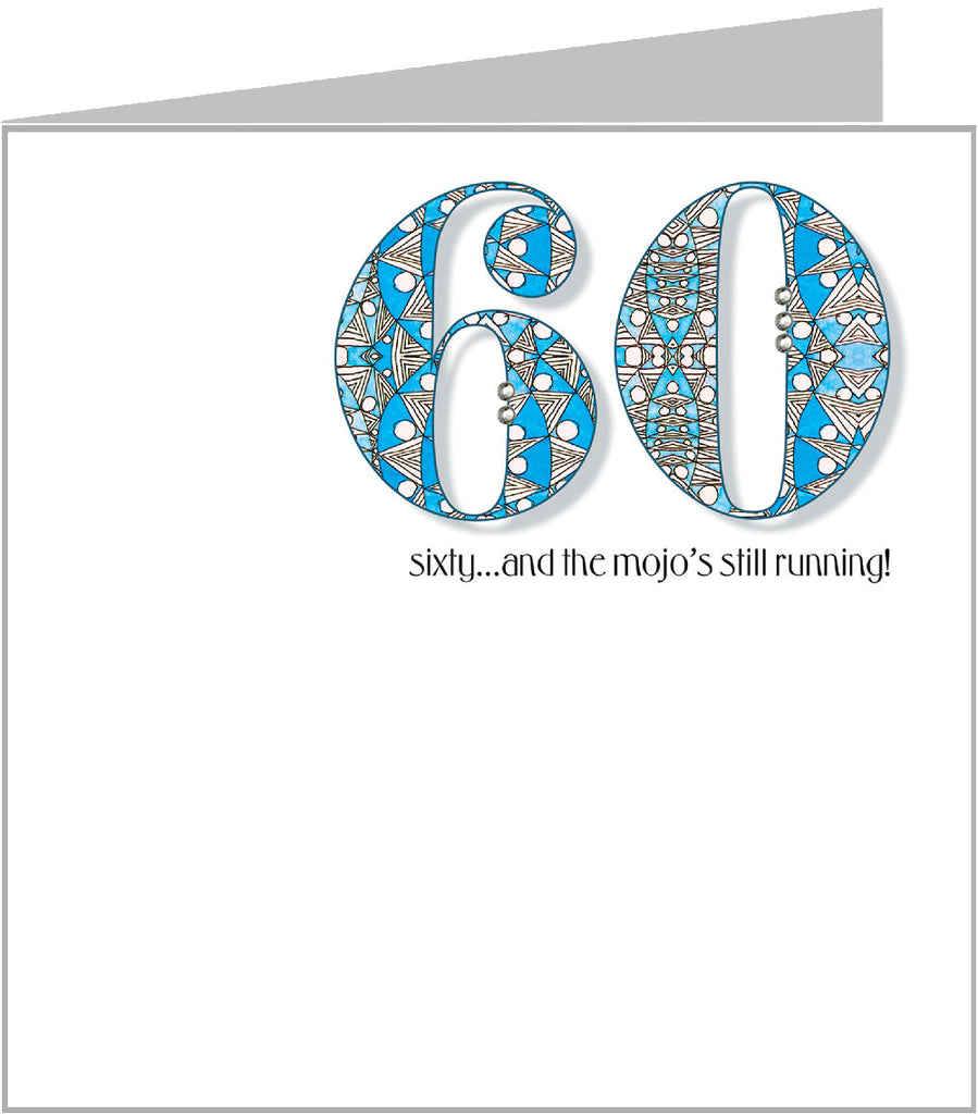 Numbers Jazz 60th Birthday Card by Valerie Valerie